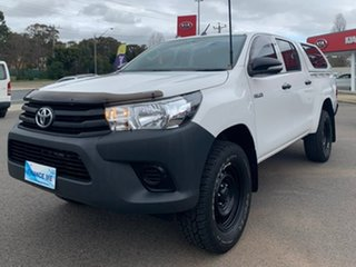 2016 Toyota Hilux Workmate White Sports Automatic Dual Cab Utility.