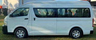 2014 Toyota HiAce KDH223R MY14 Commuter High Roof Super LWB White 5 Speed Manual Bus