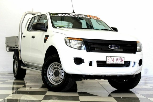 Used Ford Ranger PX XL 2.2 Hi-Rider (4x2), 2015 Ford Ranger PX XL 2.2 Hi-Rider (4x2) White 6 Speed Automatic Crew Cab Chassis