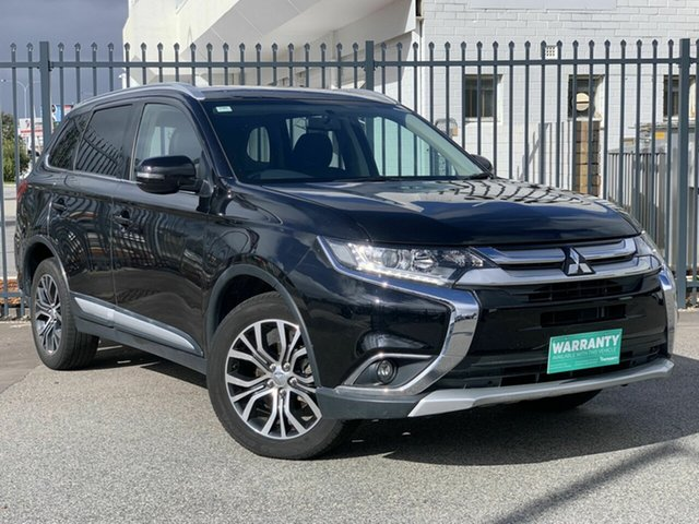 Used Mitsubishi Outlander ZK MY16 LS 4WD, 2016 Mitsubishi Outlander ZK MY16 LS 4WD Black 6 Speed Constant Variable Wagon
