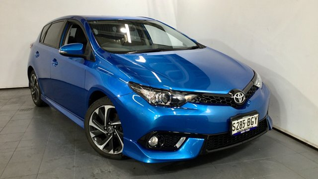 Used Toyota Corolla ZRE182R SX S-CVT, 2015 Toyota Corolla ZRE182R SX S-CVT Blue 7 Speed Constant Variable Hatchback