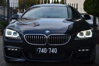 2015 BMW 6 Series F06 LCI 640i Gran Coupe Steptronic Black Metallic 8 Speed Sports Automatic Sedan.