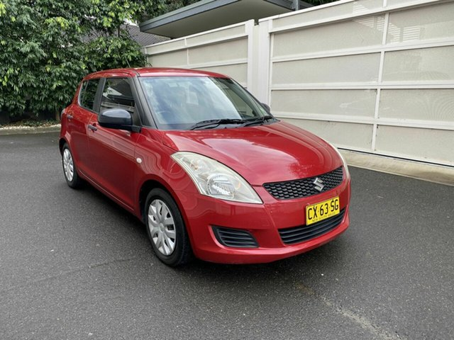 Used Suzuki Swift FZ GA Zetland, 2013 Suzuki Swift FZ GA Red 5 Speed Manual Hatchback