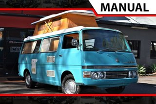 1976 Nissan E20 CAMPER Camper Turquoise & White 4 Speed Manual Van.