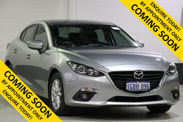 Demo Mazda 3 BM MY15 Maxx, 2016 Mazda 3 BM MY15 Maxx Silver 6 Speed Manual Sedan