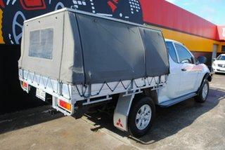 2010 Mitsubishi Triton MN MY11 GLX Club Cab Polar White 5 Speed Manual Utility.