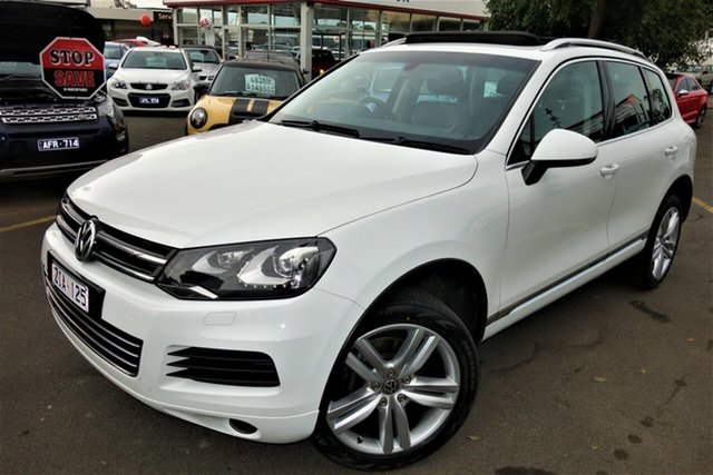 Used Volkswagen Touareg 7P MY12.5 V6 TDI Tiptronic 4XMotion, 2012 Volkswagen Touareg 7P MY12.5 V6 TDI Tiptronic 4XMotion White 8 Speed Sports Automatic Wagon