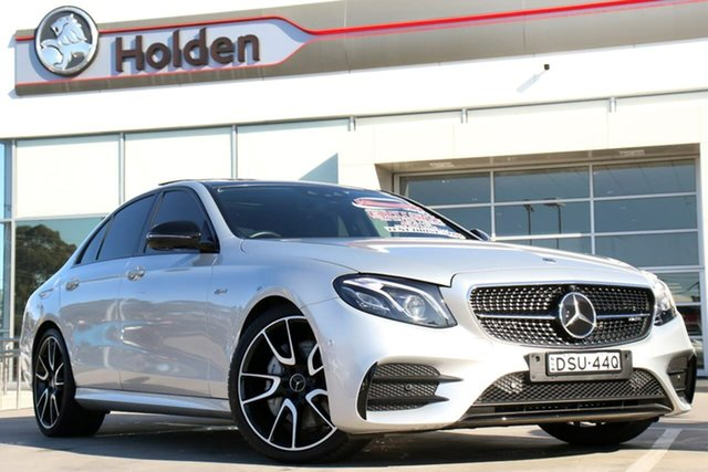 Used Mercedes-Benz E-Class W213 E43 AMG 9G-Tronic PLUS 4MATIC, 2017 Mercedes-Benz E-Class W213 E43 AMG 9G-Tronic PLUS 4MATIC Silver 9 Speed Sports Automatic Sedan