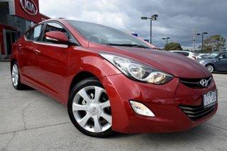 2012 Hyundai Elantra MD Premium Red 6 Speed Sports Automatic Sedan.