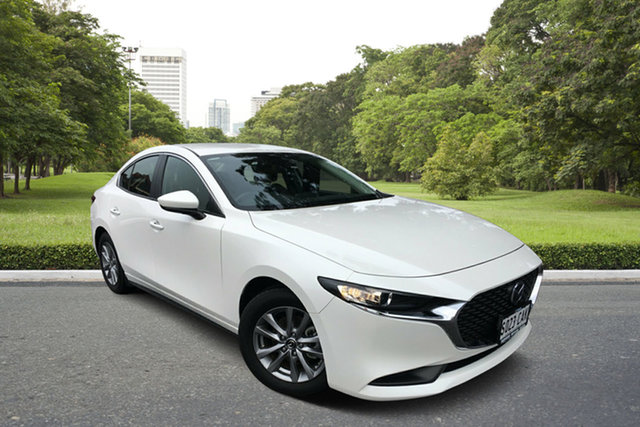 Used Mazda 3 BP2S7A G20 SKYACTIV-Drive Pure, 2019 Mazda 3 BP2S7A G20 SKYACTIV-Drive Pure White 6 Speed Sports Automatic Sedan