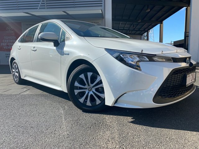 Demo Toyota Corolla ZWE211R Ascent Sport E-CVT Hybrid, 2019 Toyota Corolla ZWE211R Ascent Sport E-CVT Hybrid Crystal Pearl 10 Speed Constant Variable Sedan