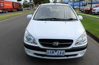 2009 Hyundai Getz TB MY09 SX White 4 Speed Automatic Hatchback.