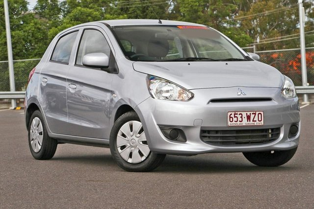 Used Mitsubishi Mirage LA MY14 ES, 2013 Mitsubishi Mirage LA MY14 ES Silver, Chrome 5 Speed Manual Hatchback
