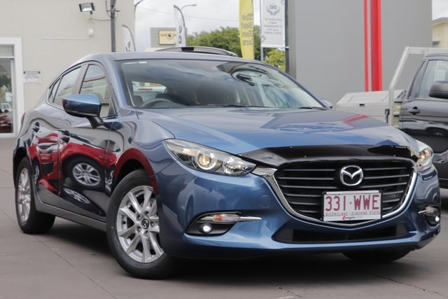 Used Mazda 3 BM5478 Maxx SKYACTIV-Drive, 2016 Mazda 3 BM5478 Maxx SKYACTIV-Drive Blue 6 Speed Sports Automatic Hatchback