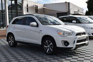 2014 Mitsubishi ASX XB MY15 XLS White 6 Speed Sports Automatic Wagon.