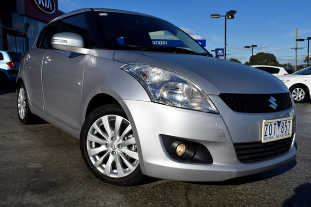 Used Suzuki Swift FZ GLX, 2013 Suzuki Swift FZ GLX Billet Silver 4 Speed Automatic Hatchback