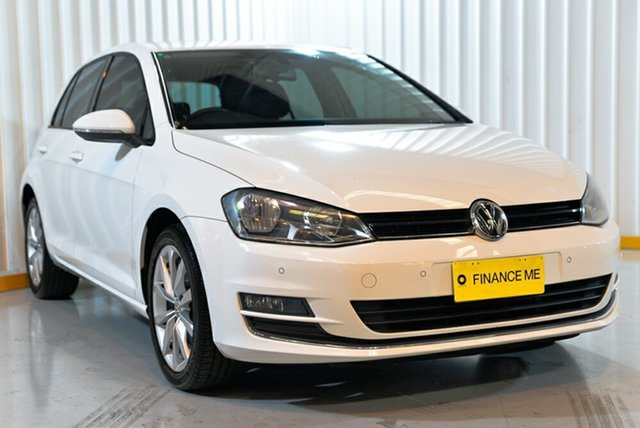 Used Volkswagen Golf VII MY14 103TSI DSG Highline, 2013 Volkswagen Golf VII MY14 103TSI DSG Highline White 7 Speed Sports Automatic Dual Clutch