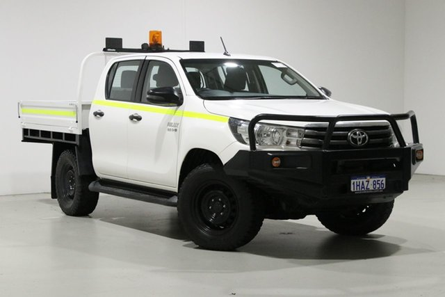 Used Toyota Hilux GUN126R MY19 SR (4x4), 2018 Toyota Hilux GUN126R MY19 SR (4x4) White 6 Speed Automatic Double Cab Chassis