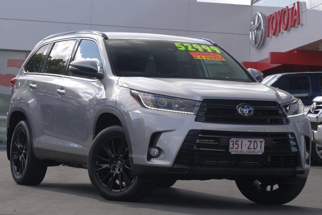 Used Toyota Kluger GSU55R Black Edition AWD, 2019 Toyota Kluger GSU55R Black Edition AWD Silver 8 Speed Sports Automatic Wagon