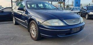 2002 Ford Falcon AU III Futura Blue 4 Speed Automatic Wagon.