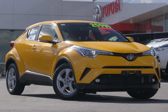 Used Toyota C-HR NGX10R S-CVT 2WD, 2018 Toyota C-HR NGX10R S-CVT 2WD Yellow 7 Speed Wagon