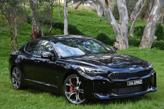 Demo Kia Stinger CK MY20 GT Fastback Carbon Edition, 2019 Kia Stinger CK MY20 GT Fastback Carbon Edition Aurora Black 8 Speed Sports Automatic Sedan