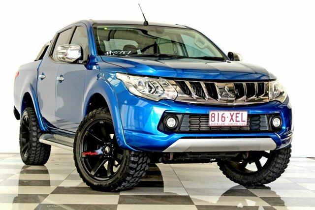 Used Mitsubishi Triton MQ MY17 Exceed (4x4), 2016 Mitsubishi Triton MQ MY17 Exceed (4x4) Blue 5 Speed Automatic Dual Cab Utility