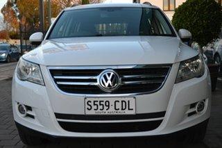 2011 Volkswagen Tiguan 5N MY11 125TSI 4MOTION White 6 Speed Manual Wagon.