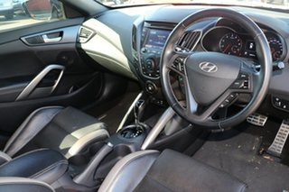 2015 Hyundai Veloster FS4 Series II SR Coupe D-CT Turbo + Black 7 Speed Sports Automatic Dual Clutch