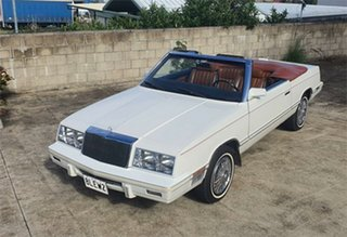 1982 Chrysler LE Baron MARK CROSS DESIGNER EDITION White 3 Speed Automatic Convertible.