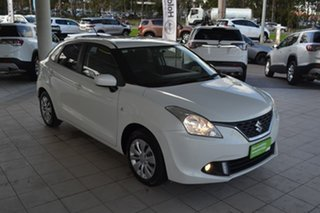 2017 Suzuki Baleno EW GL White 4 Speed Automatic Hatchback.
