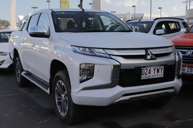 Used Mitsubishi Triton MR MY19 GLS Double Cab, 2018 Mitsubishi Triton MR MY19 GLS Double Cab White Diamond 6 Speed Manual Utility