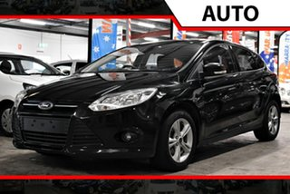 2013 Ford Focus LW MkII Trend PwrShift Metallic Black 6 Speed Sports Automatic Dual Clutch Hatchback.