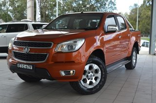 2015 Holden Colorado RG MY16 LTZ Crew Cab Orange 6 Speed Sports Automatic Utility.