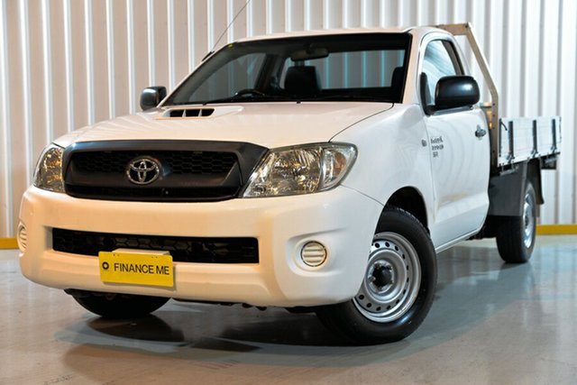 Used Toyota Hilux KUN16R MY10 SR 4x2, 2011 Toyota Hilux KUN16R MY10 SR 4x2 White 5 Speed Manual Cab Chassis