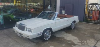1982 Chrysler LE Baron MARK CROSS DESIGNER EDITION White 3 Speed Automatic Convertible