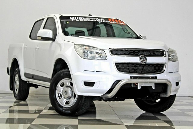 Used Holden Colorado RG MY16 LS (4x2), 2015 Holden Colorado RG MY16 LS (4x2) White 6 Speed Automatic Crew Cab Pickup