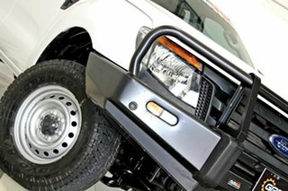 2012 Ford Ranger PX XL 2.2 (4x4) White 6 Speed Manual Crew Cab Chassis.