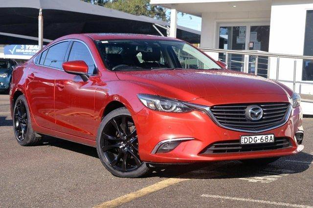 Used Mazda 6 GJ1032 GT SKYACTIV-Drive, 2016 Mazda 6 GJ1032 GT SKYACTIV-Drive Red 6 Speed Sports Automatic Sedan
