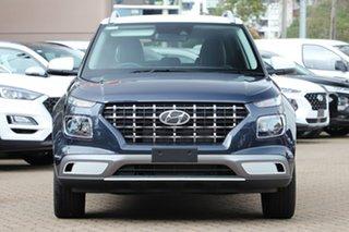 2020 Hyundai Venue QX.2 MY20 Elite (denim Interior) The Denim & White Roof 6 Speed Automatic Wagon
