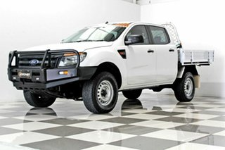 2012 Ford Ranger PX XL 2.2 (4x4) White 6 Speed Manual Crew Cab Chassis