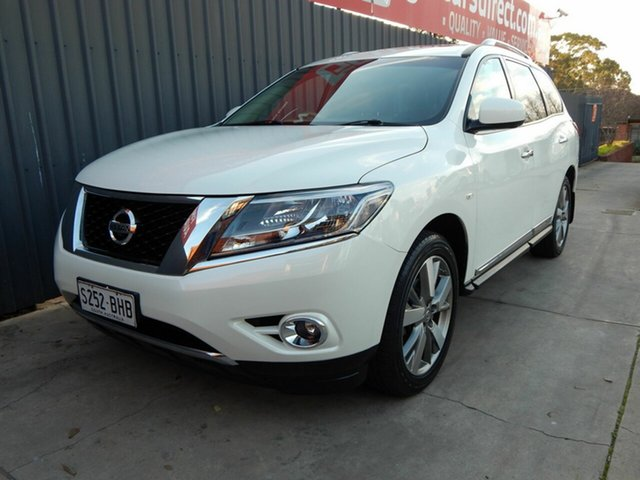 Used Nissan Pathfinder R52 MY15 Ti X-tronic 2WD, 2015 Nissan Pathfinder R52 MY15 Ti X-tronic 2WD White 1 Speed Constant Variable Wagon