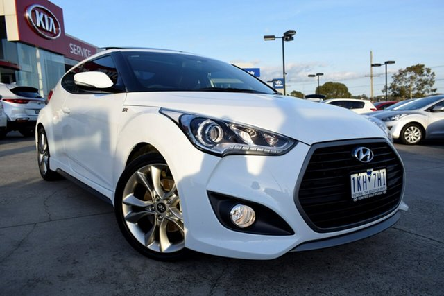 Used Hyundai Veloster FS5 Series II SR Coupe D-CT Turbo, 2017 Hyundai Veloster FS5 Series II SR Coupe D-CT Turbo White 7 Speed Sports Automatic Dual Clutch