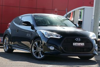 2015 Hyundai Veloster FS4 Series II SR Coupe D-CT Turbo + Black 7 Speed Sports Automatic Dual Clutch.