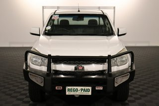 2013 Holden Colorado RG MY13 LX White 6 speed Automatic Cab Chassis.