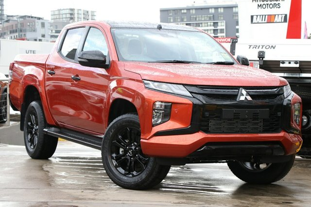 New Mitsubishi Triton MR MY21 GSR Double Cab Wantirna South, 2020 Mitsubishi Triton MR MY21 GSR Double Cab Sunflare Orange 6 Speed Sports Automatic Utility