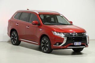 2015 Mitsubishi Outlander ZK MY16 PHEV Exceed Red 1 Speed Automatic Wagon