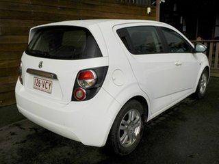 2014 Holden Barina TM MY15 CD White 6 Speed Automatic Hatchback.
