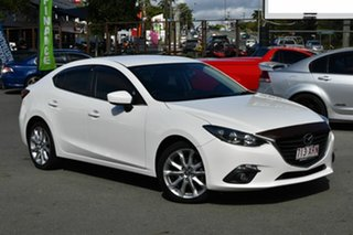 2014 Mazda 3 BM SP25 White 6 Speed Automatic Sedan.