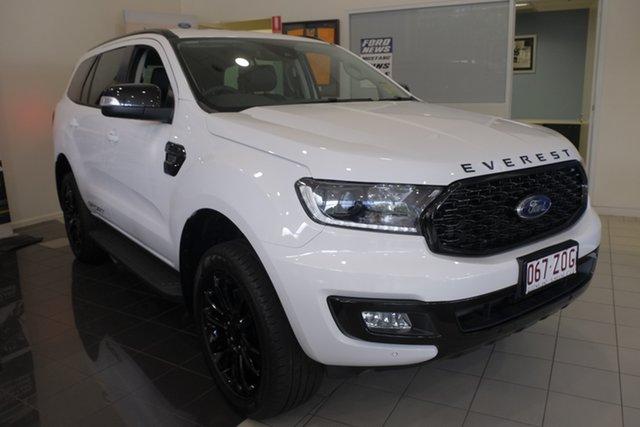 Demo Ford Everest UA II 2020.25MY Sport 4WD, 2019 Ford Everest UA II 2020.25MY Sport 4WD Arctic White 6 Speed Sports Automatic Wagon